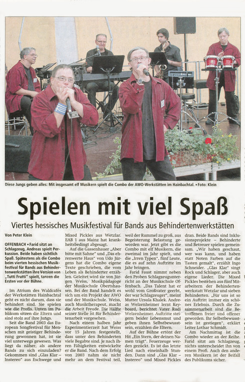 Offenbach Post 28. August 2012