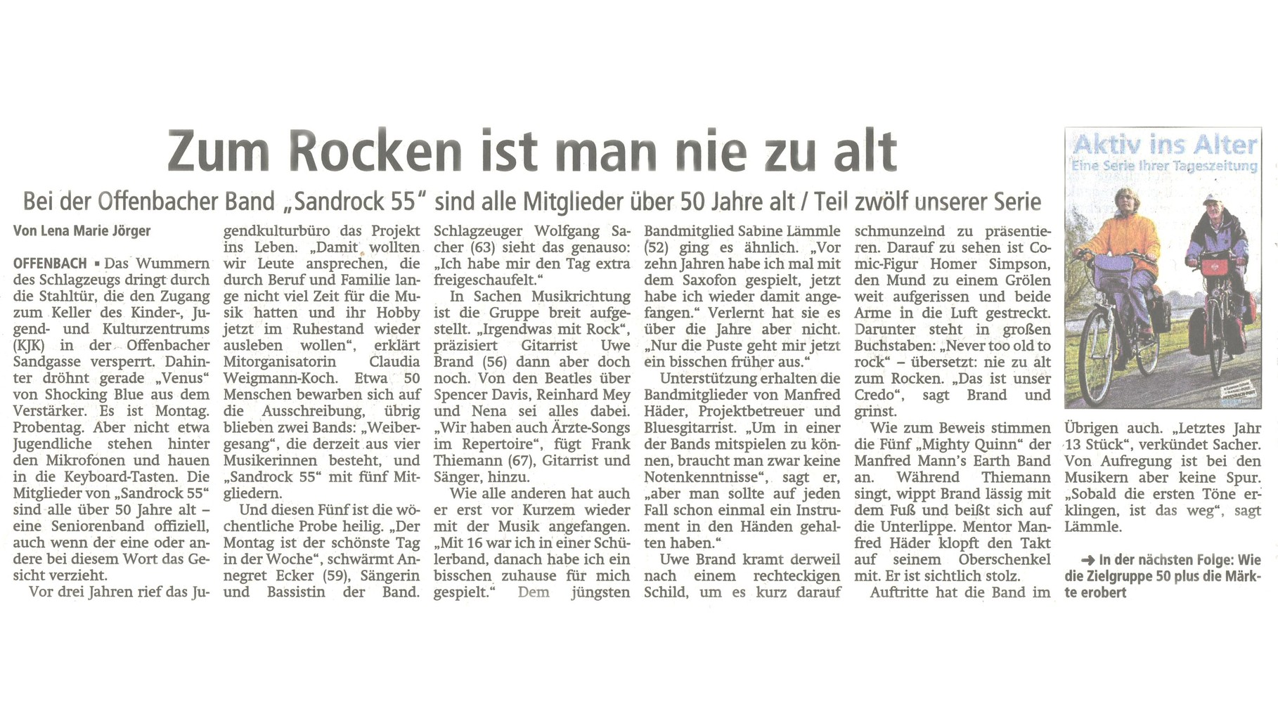 Offenbach Post, 24. April 2014