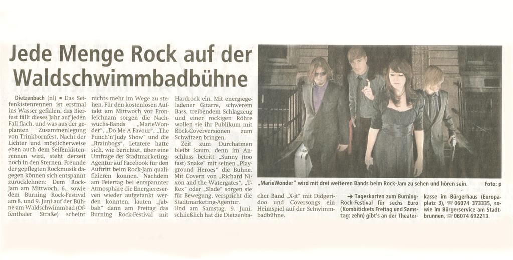 Offenbach Post, 25. Mai 2012