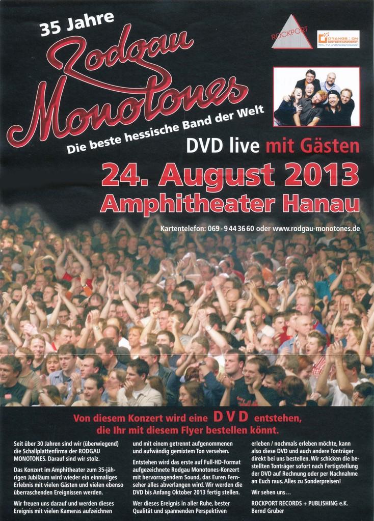 """Flyer 35-Jahre Monotones , """"Bergfest"""""""