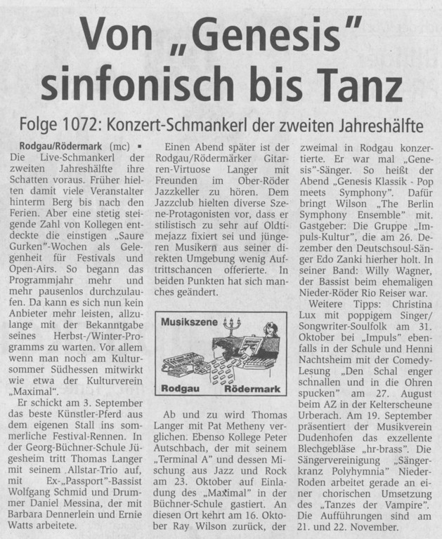 Offenbach Post, Juli 2010