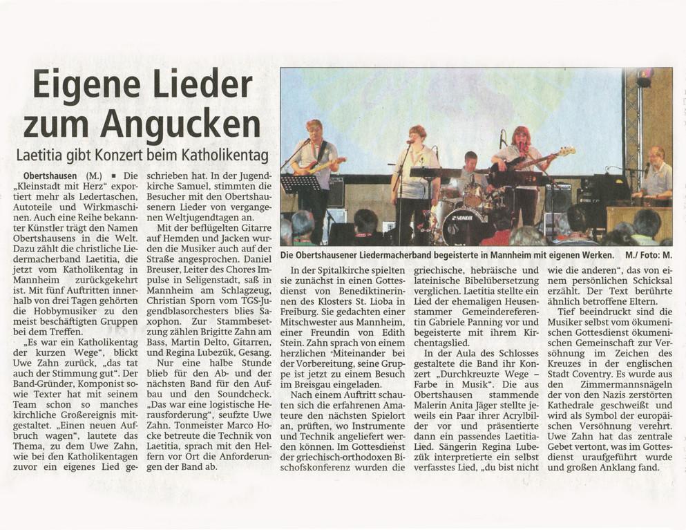Offenbach Post, 26. Mai 2012