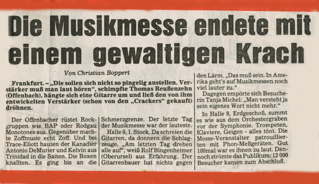 """Wat mutt, dat mutt !!! (Artikel der """"Abendpost Nachtausgabe"""" vom 12. Februar 1987)"""