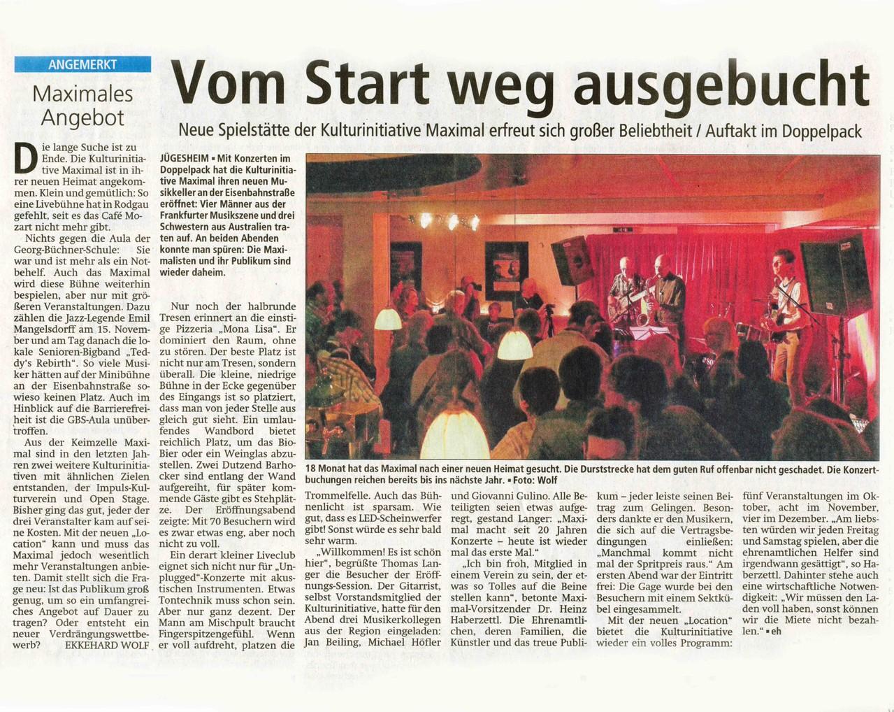 Offenbach Post, 3. Oktober 2012