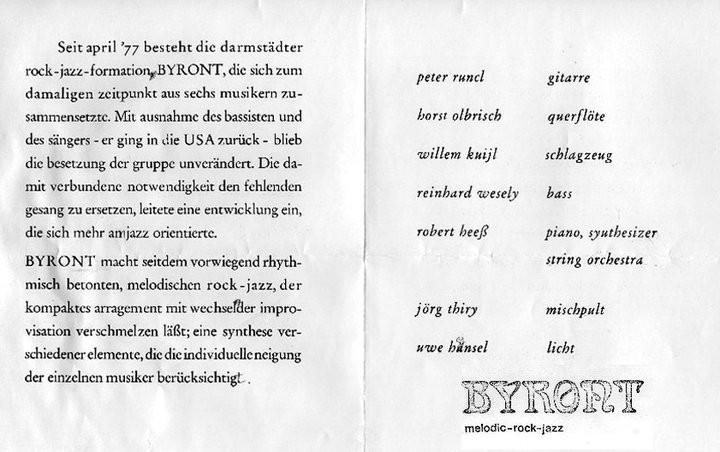 """Horst Olbrisch und Robert Heeß spielten vorher schon zusammen in der Darmstädter Band """"Byront"""""""