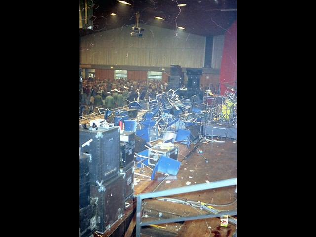 Nach dem Konzert von Lou Reed 1979 (Foto: Horst Weisse)