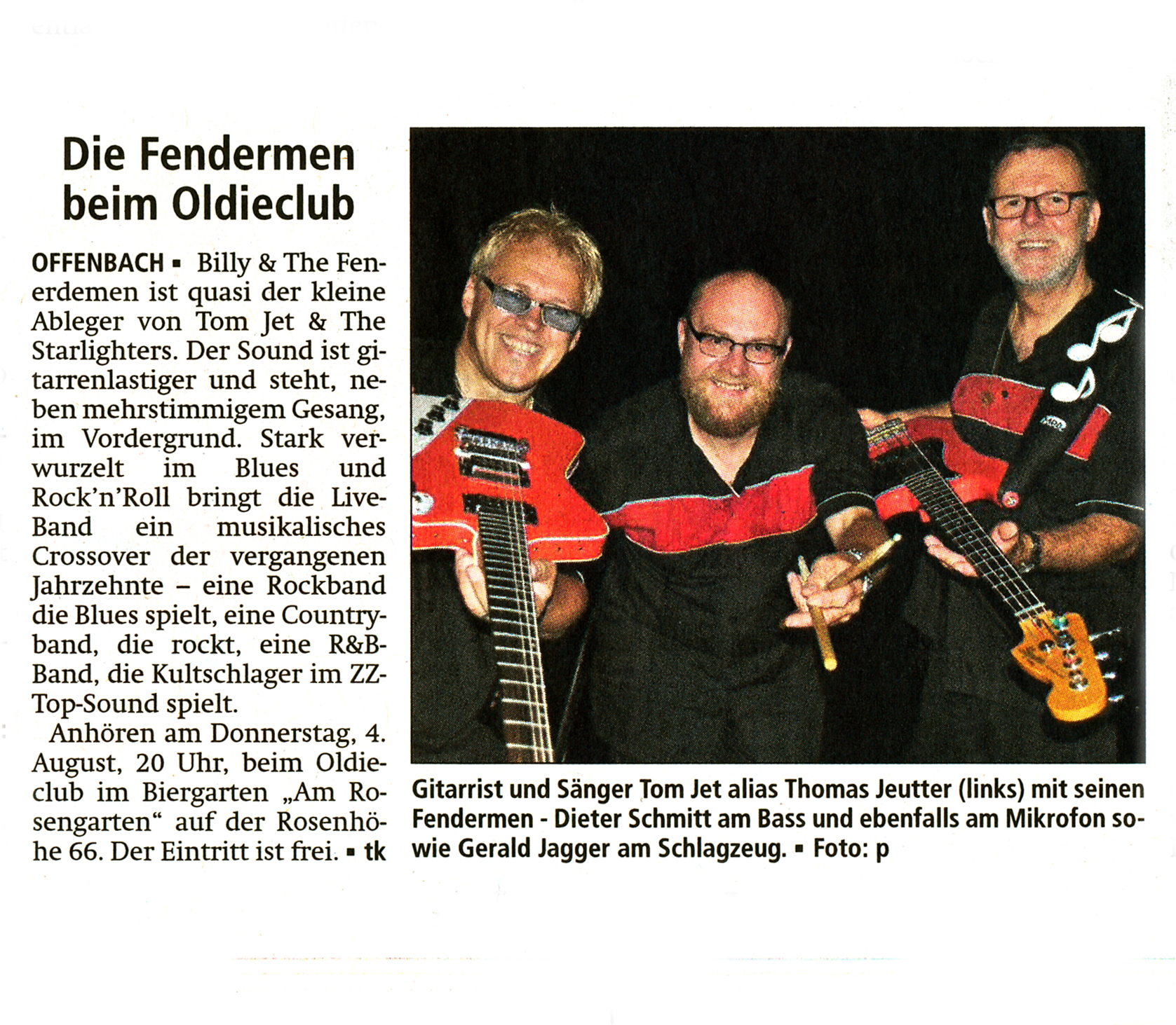 Offenbach Post, 1. August 2016