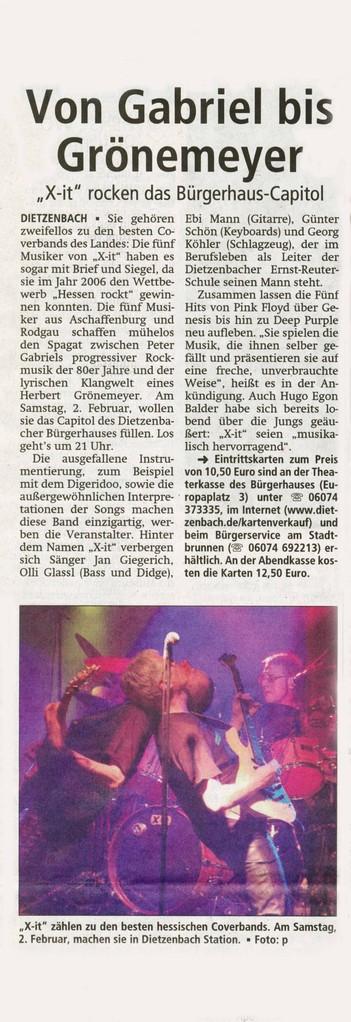 Offenbach Post, 7. Januar 2013