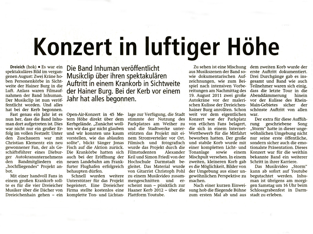 Offenbach Post 25. Mai 2012