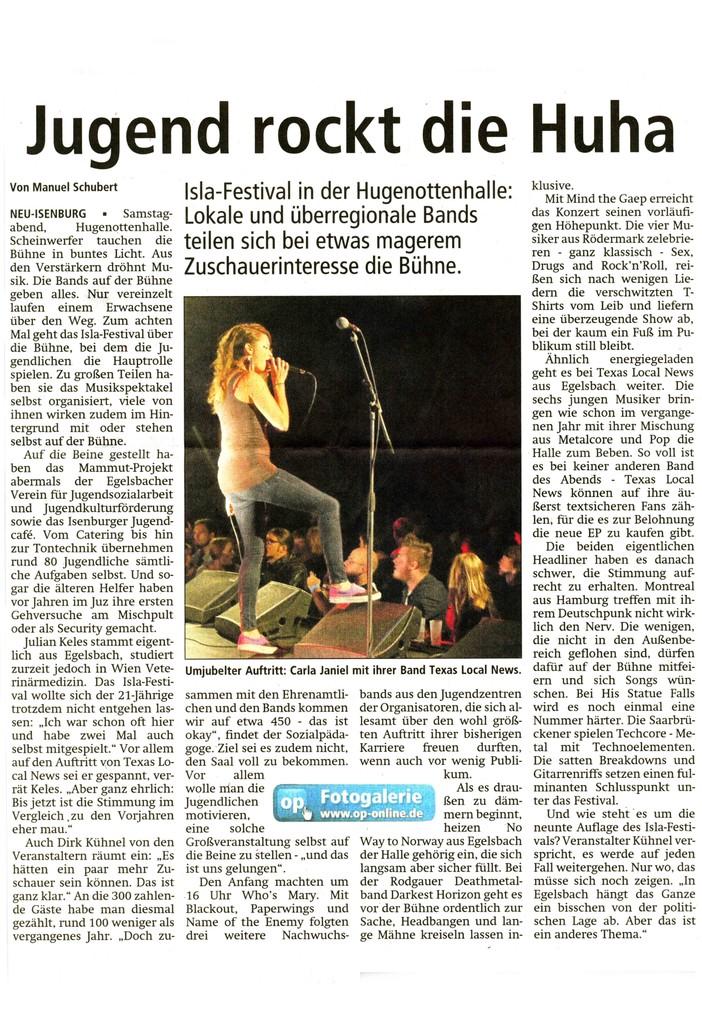 Offenbach Post, 24. September 2012