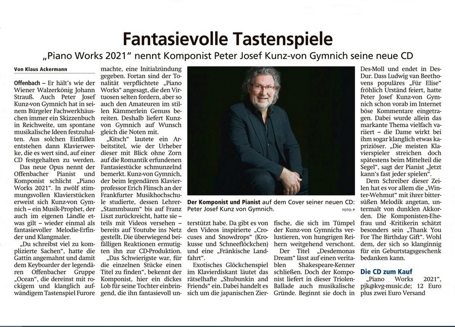 Offenbach Post, 6. August 2021