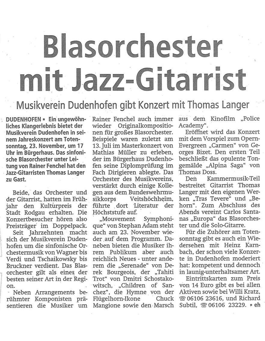 Offenbach Post, 15. November 2014