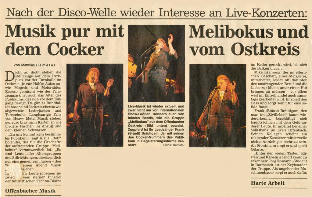 Artikel Offenbach Post, 15. Juni 1991, Teil 1