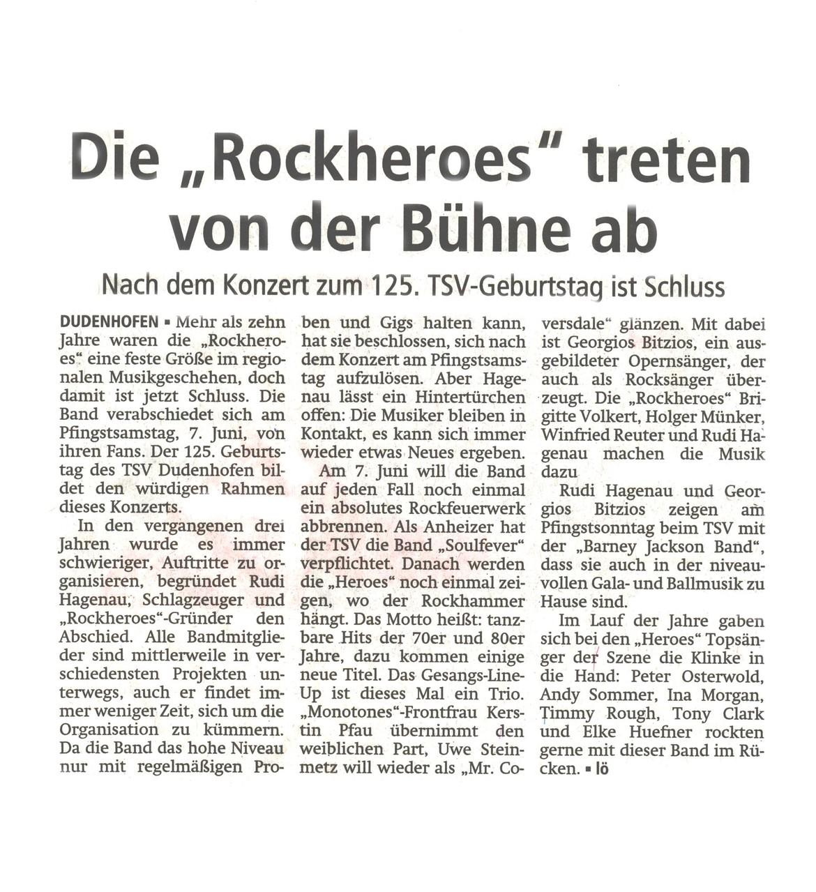 Offenbach Post, 26. Mai 2014