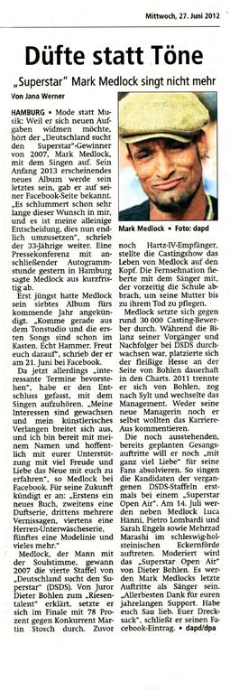 Offenbach Post, 27. Juni 2012