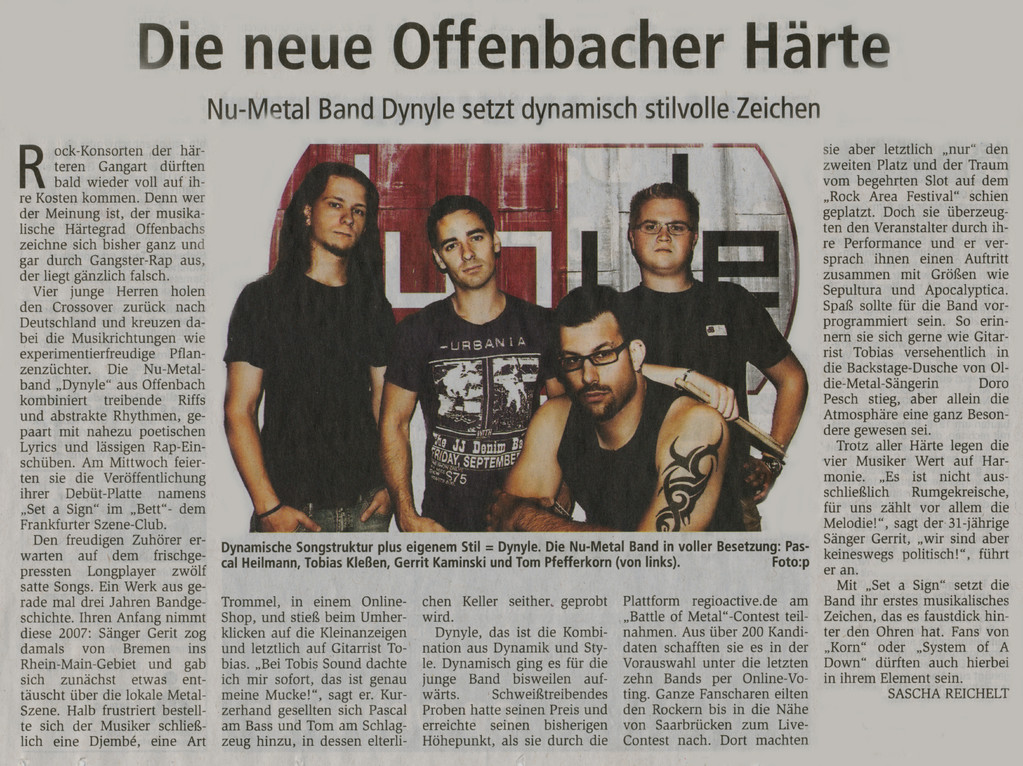 Artikel Offenbach Post, 22. April 2011