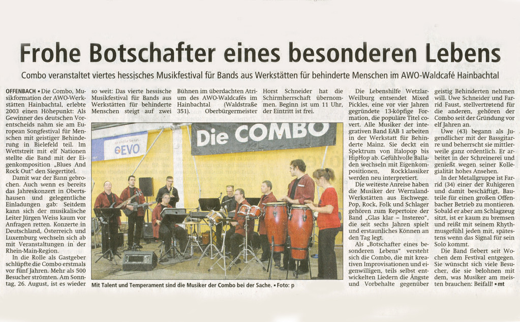 Offenbach Post, 14. August 2012