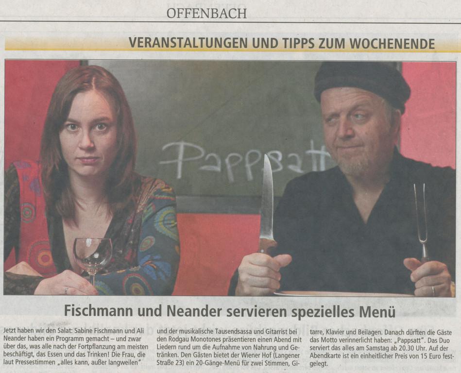 Offenbach Post, 15. April 2011