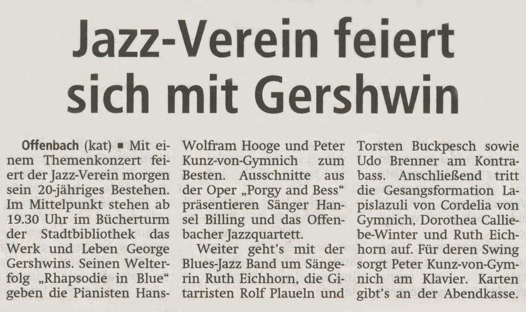 Offenbach Post, 18. August 2011