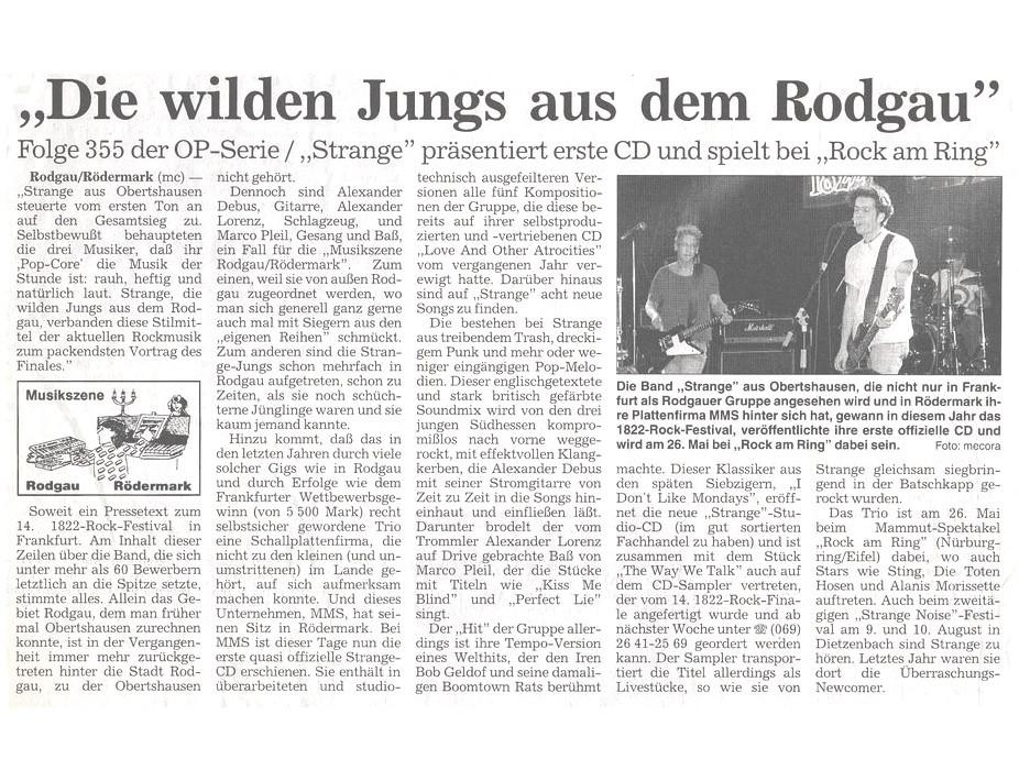 Offenbach Post, 5. Mai 1996