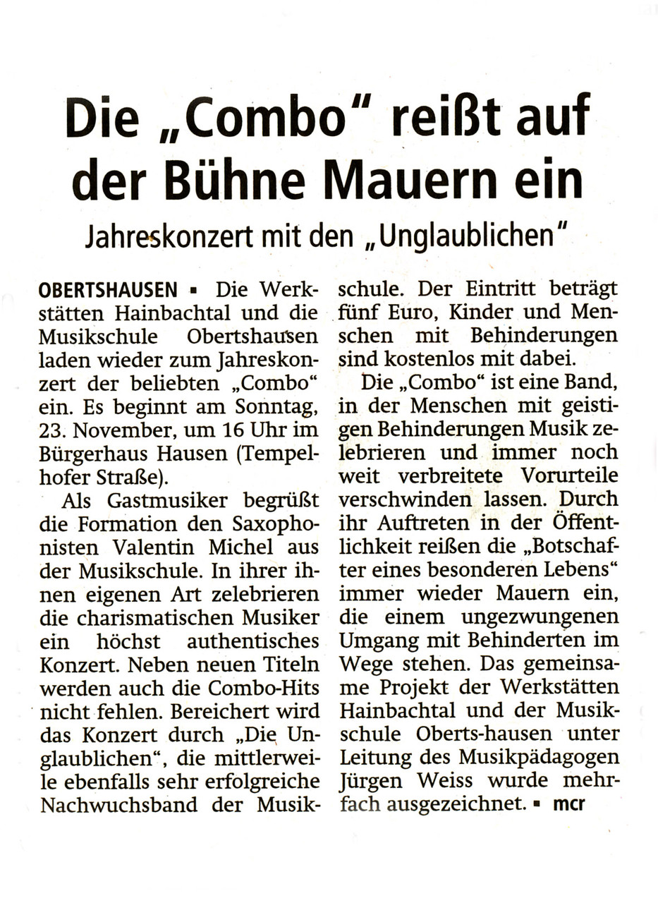Offenbach Post, 19. November 2014