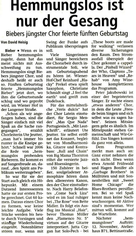 Offenbach Post, 5. Oktober 2011