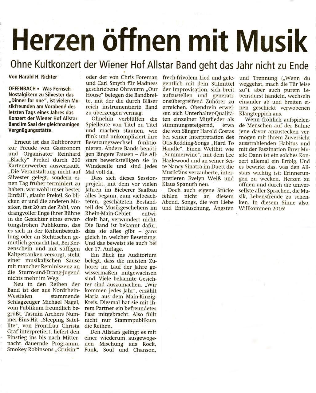 Offenbach Post, 2. Januar 2016