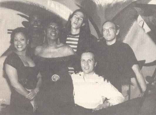 v.l.n.r.: Linda Carierre, Gail Duncan, Cynthia Utterbach, Stephan Langer, Tang, Harald Heinl
