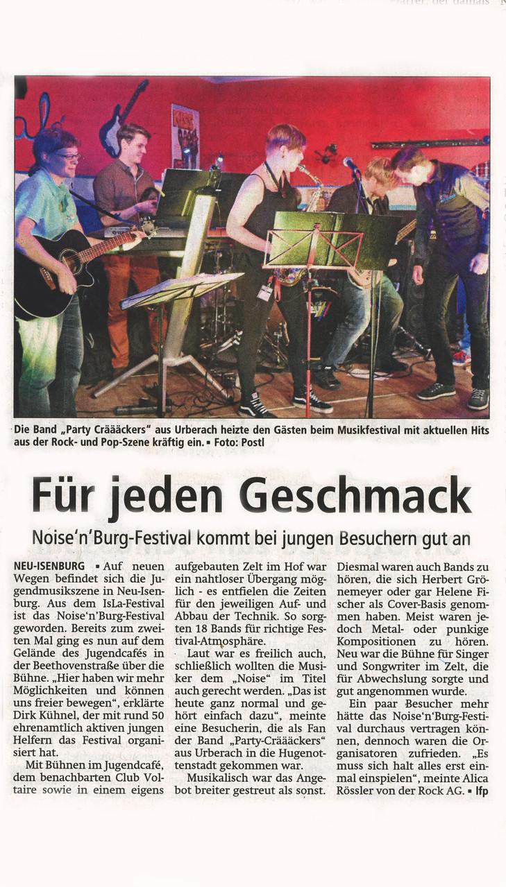 Offenbach Post, 14. Oktober 2014