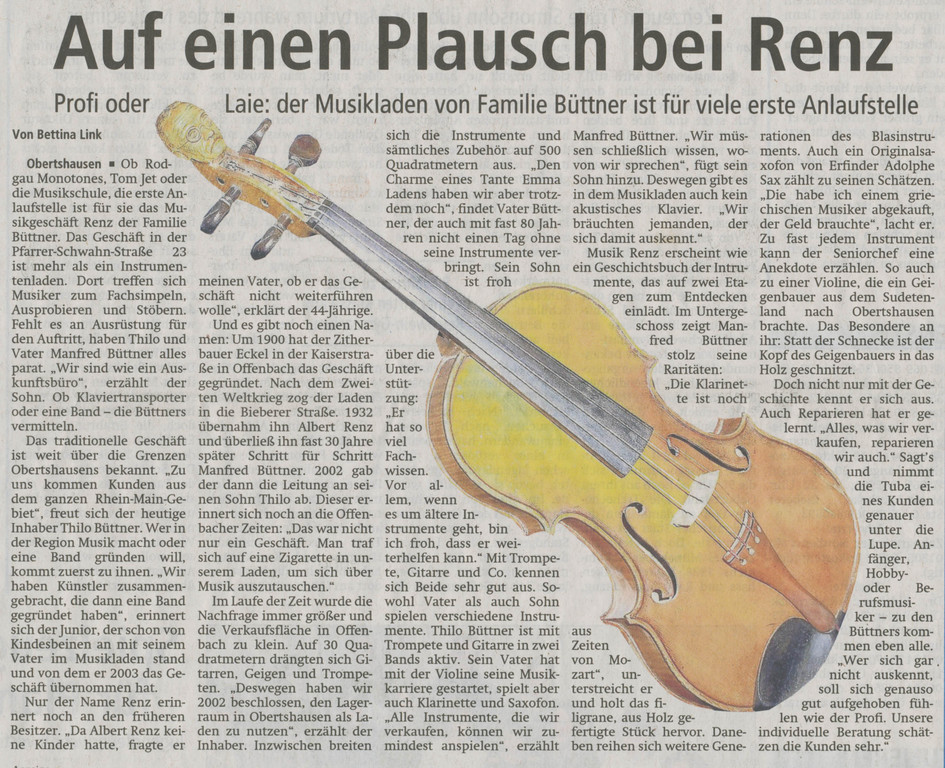 Offenbach Post, 21. Januar 2012 (Text)