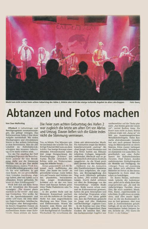 Offenbach Post, 21. Februar 2012