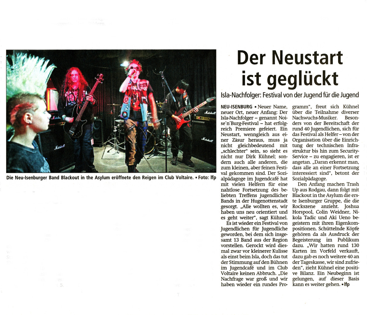 Offenbach Post, 8. November 2013