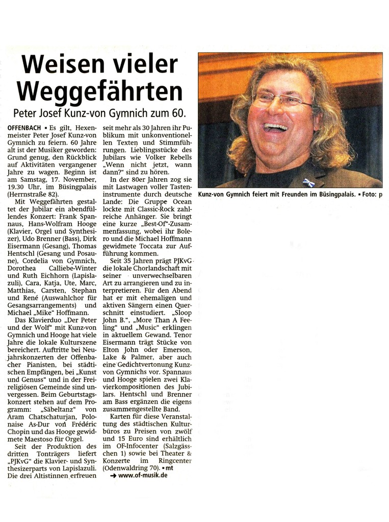 Offenbach Post 10. November 2012