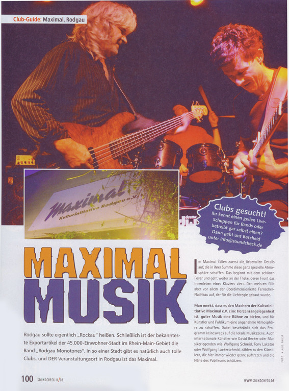 "Artikel ""Soundcheck"", November 2008"