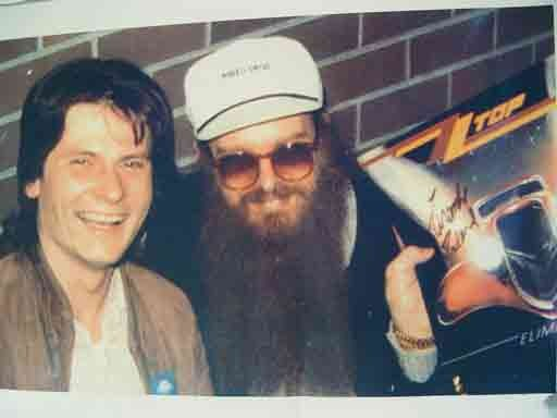 Thomas Reußenzehn mit Billy Gibbons (1981)