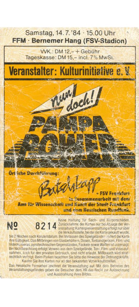 Das legendäre Konzert zusammen mit Flatsch, den Crackers, Feinbein, Hob Goblin und Roger Chapman