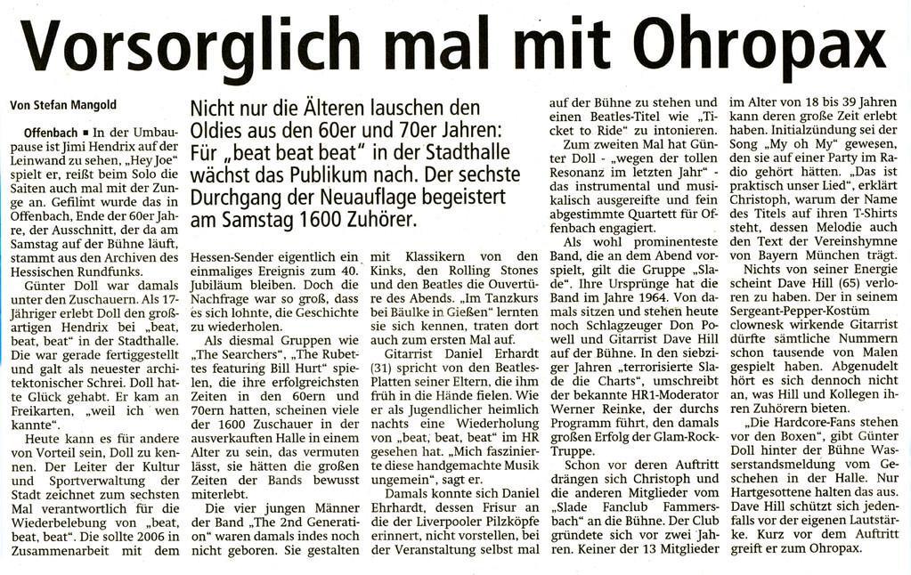 Offenbach Post, 10. Oktober 2011