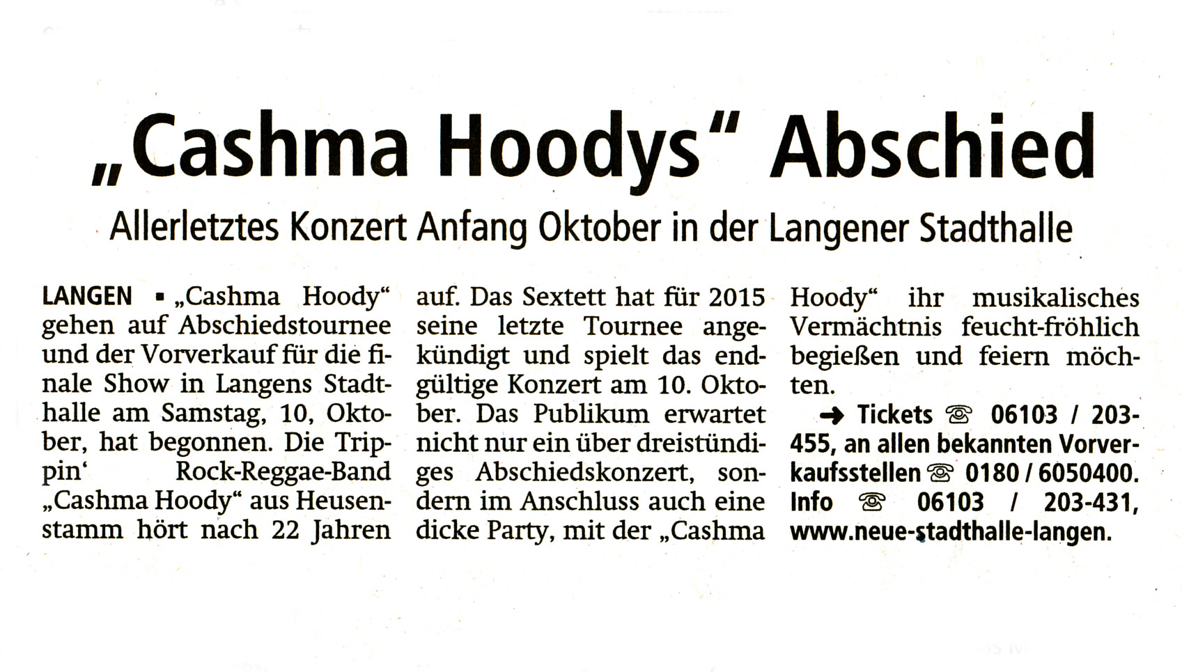 Offenbach Post, 24. März 2015