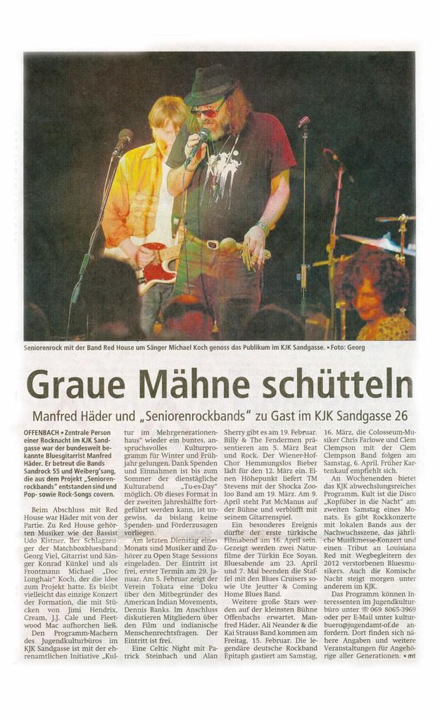Offenbach Post, 22. Januar 2013