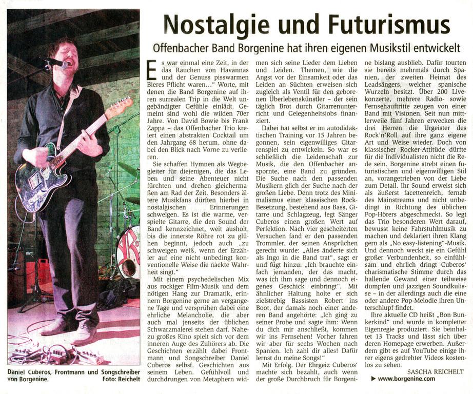 Offenbach Post, 10. Juni 2011
