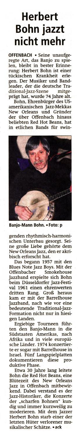 Offenbach Post, 2. Januar 2014