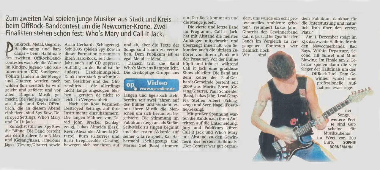 Offenbach Post, 14. November 2012