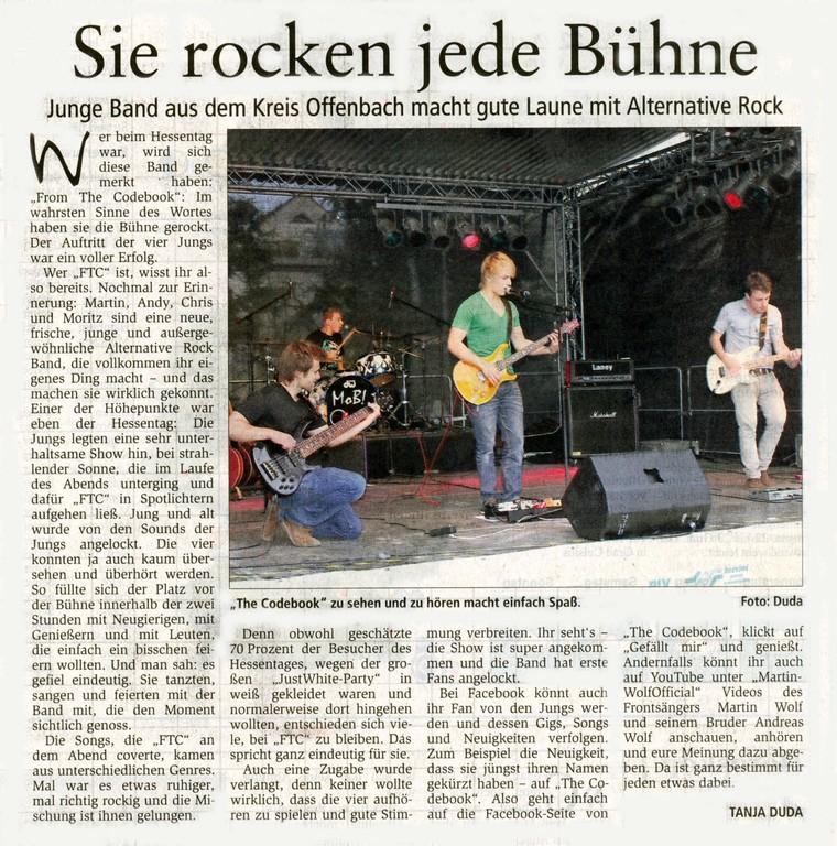 Offenbach Post, 27. Juli 2011