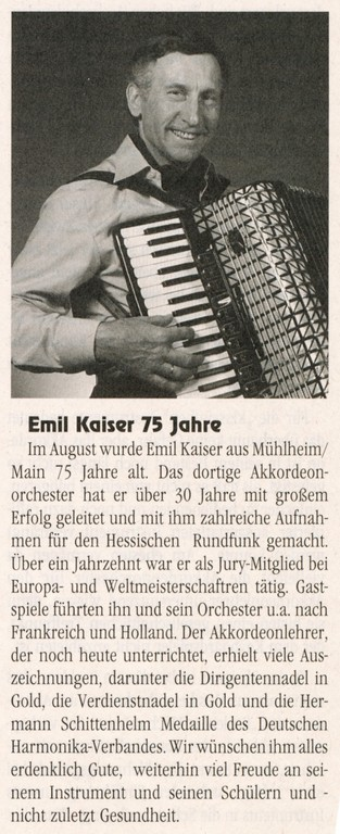 "Artikel ""Harmonika International"", Ausgabe März/April 1995"