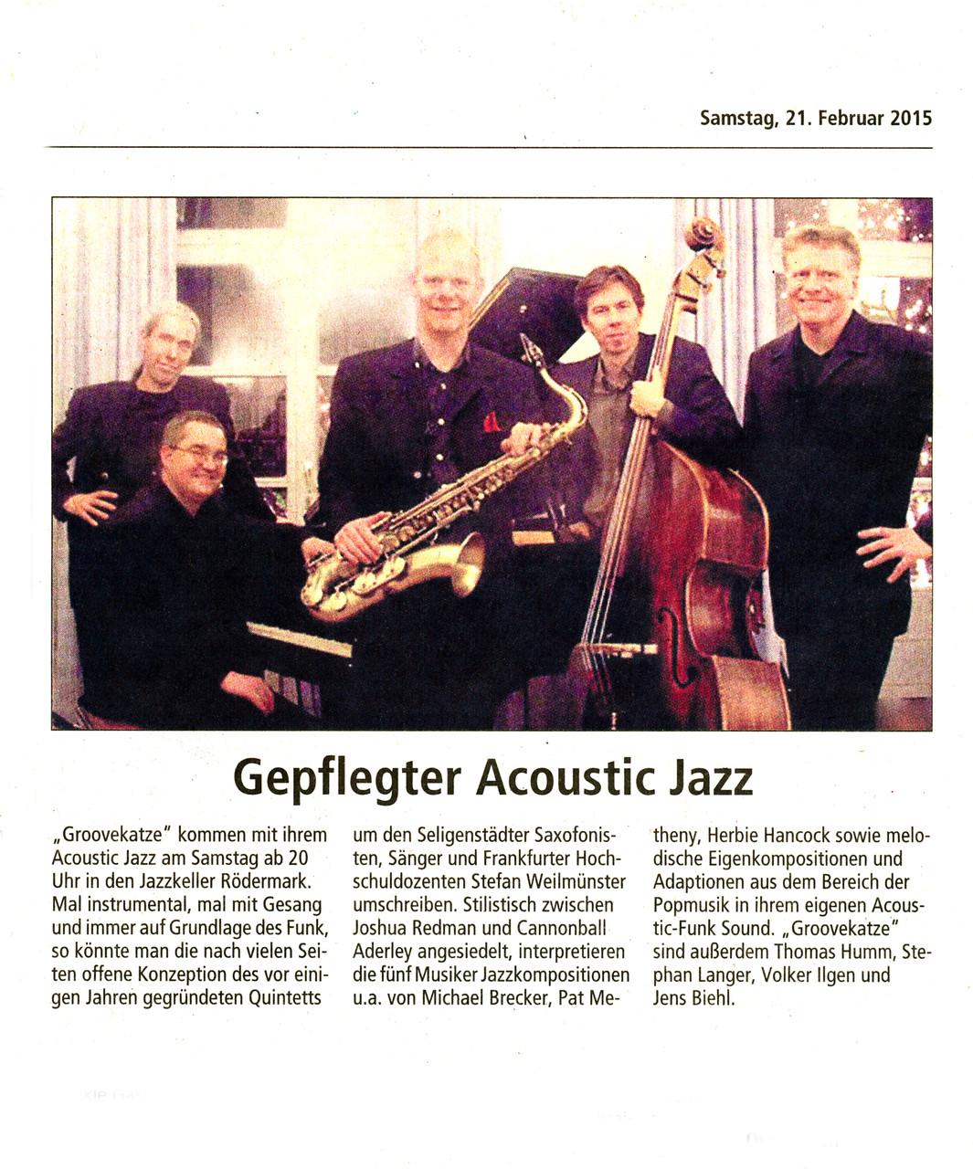 Offenbach Post, 21. Februar 2015
