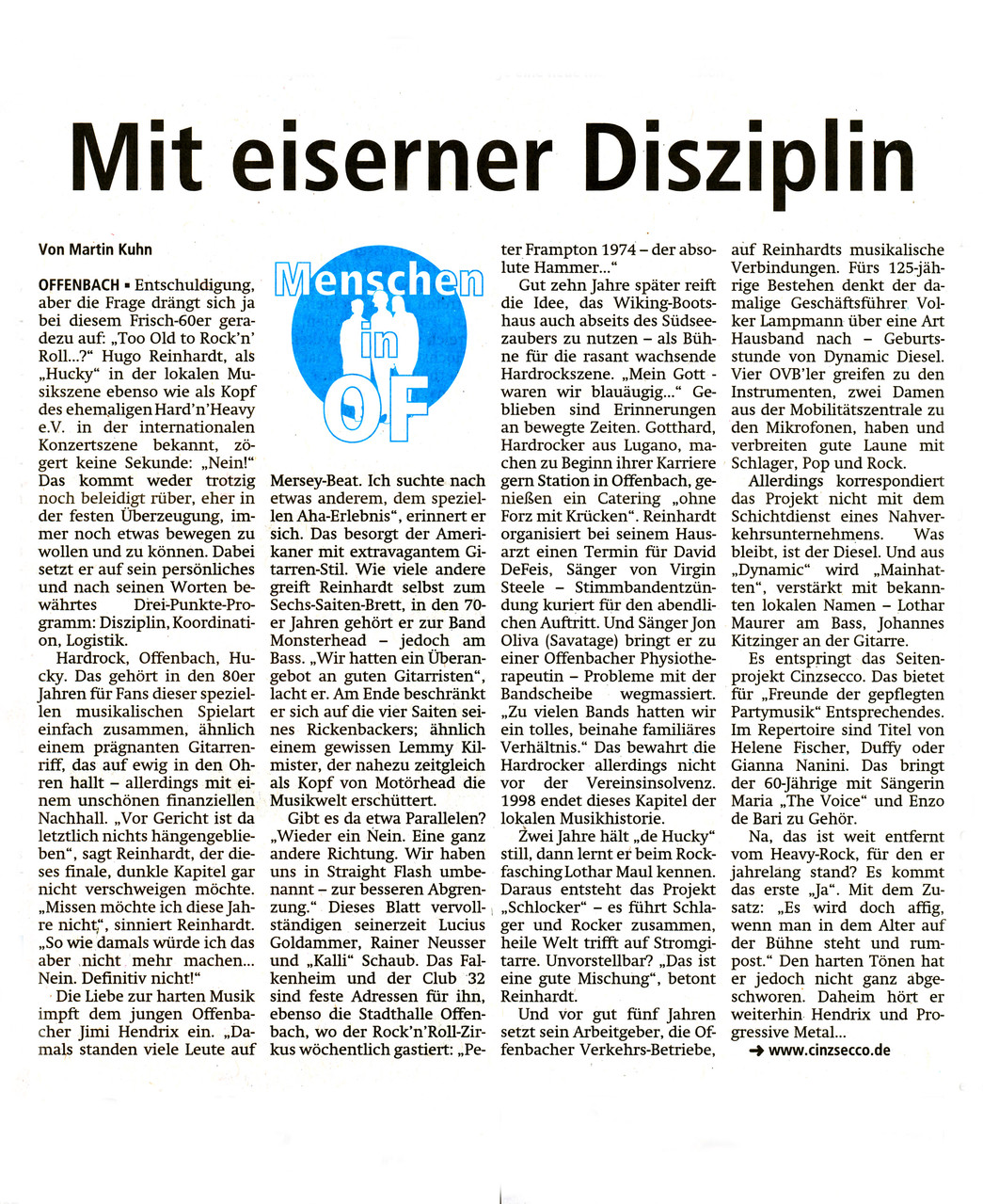 Offenbach Post, 27. September 2014