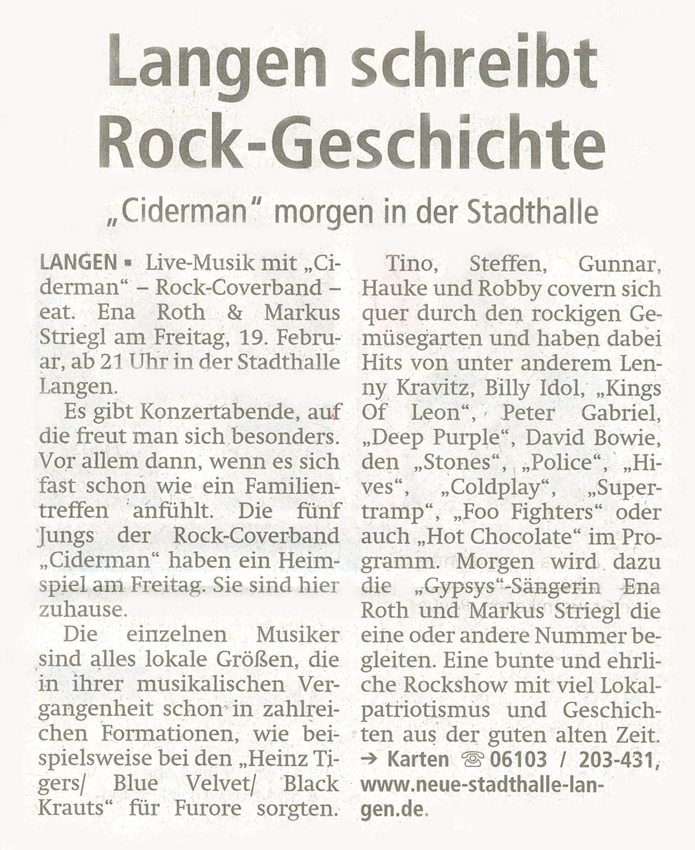 Offenbach Post, 19. Februar 2016