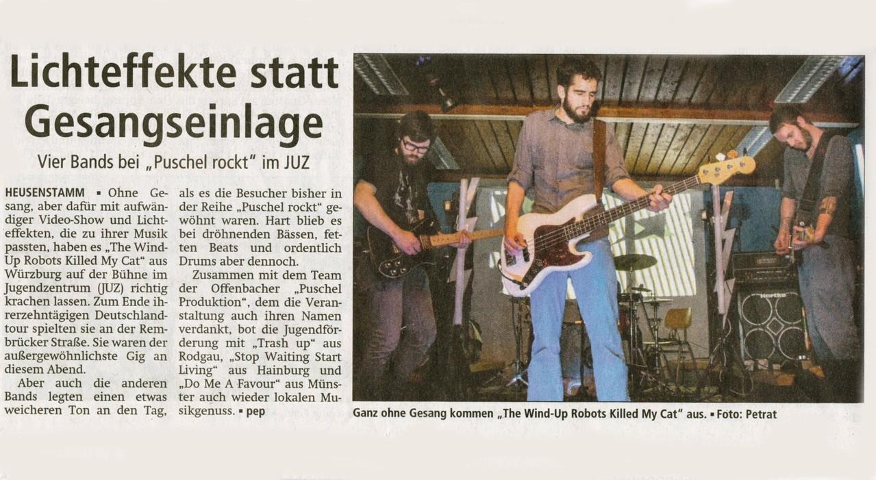Offenbach Post, 7. Mai 2013