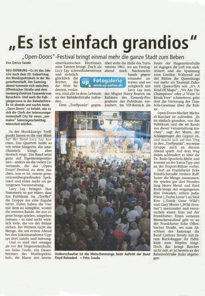 Artikel Offenbach Post, 15. Juli 2013 (2)