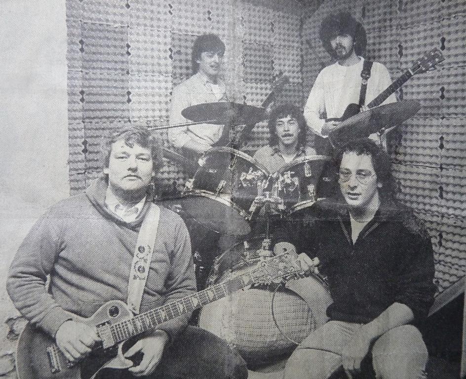 Sleepy Feet Band 1982 - 1984, v.l.n.r.: Freak Kruse, Matze Schmidt, Rainer Nolte, Andy Sommer, Beeni Beyer